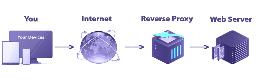 How a reverse proxy works